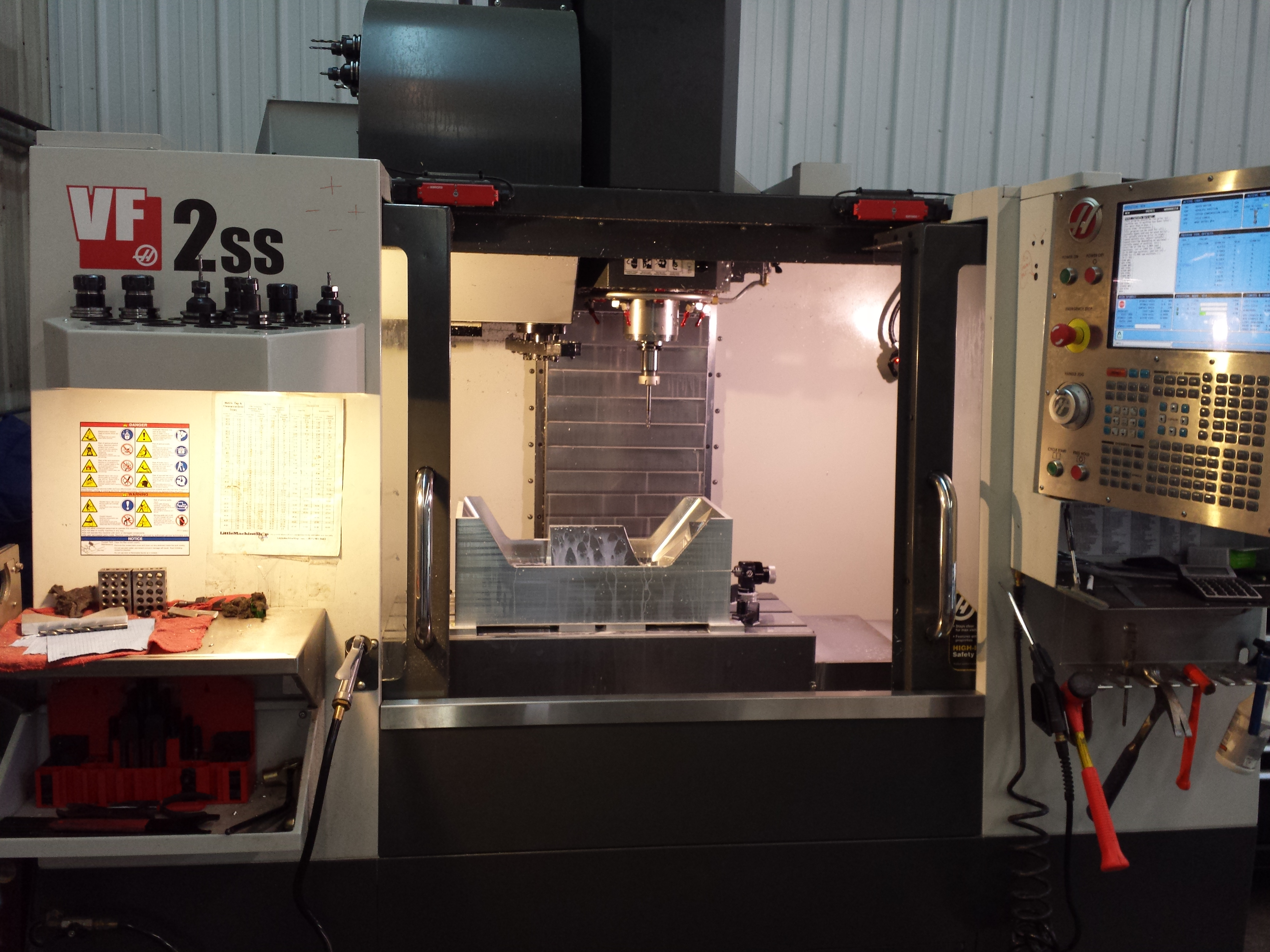 Haas VF2SS High speed CNC 2D 3D machining, vertical milling center